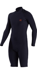 2021 Billabong Mens Absolute Comp 2mm GBS Long Sleeve Shorty Wetsuit W42M90 - Slate Blue