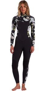 2021 Billabong Womens Salty Dayz 4/3mm Chest Zip Wetsuit W44G50 - Maui Black