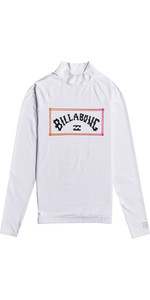 2021 Billabong Mens Unity Long Sleeve Rash Vest W4MY12 - White