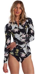 2021 Billabong Womens Salty Dayz 2mm LS Spring Shorty Wetsuit W42G53 - Maui Black