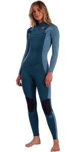 2021 Billabong Womens Synergy 3/2mm Chest Zip Wetsuit W43G51 - Blue Seas