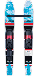 2021 Connelly Junior Supersport Slide-Type Adjustable Combo Waterskis 61210306 - Black / Blue
