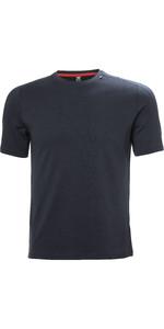 2021 Helly Hansen Mens Lifa Merino Lightweight T-Shirt 48101 - Navy