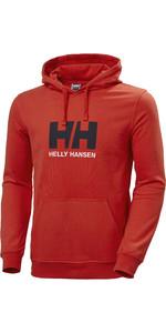 2021 Helly Hansen Mens Logo Hoodie 33977 - Alert Red
