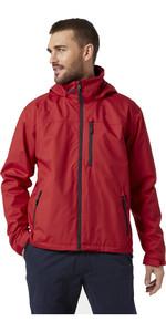 2021 Helly Hansen Mens Hooded Crew Jacket 33875 - Red