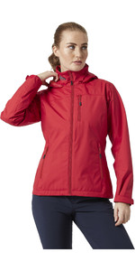 2021 Helly Hansen Womens Crew Hooded Jacket 33899 - Red