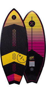 2021 Hyperlite Broadcast LTD 4.8 Wakesurf Board H21BRLTD - Black / Pink / Yellow