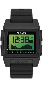 2021 Nixon Base Tide Pro Surf Watch A1307 - Black / Green Positive