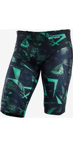 2021 Orca Mens Jammer Triathlon Shorts KS17 - Green Print