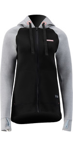 2021 Prolimit Womens 1.5mm Wetsuit Zipped SUP Hoody 14715 - Light Grey / Black