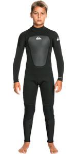 2021 Quiksilver Boys Prologue 3/2mm Flatlock Back Zip Wetsuit EQBW103076 - Black