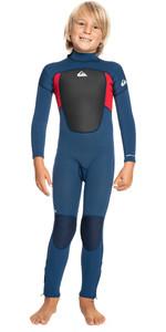 2021 Quiksilver Kids Prologue 4/3mm Back Zip GBS Wetsuit EQKW103009 - Insignia / High Risk