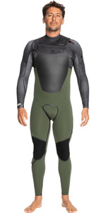 2021 Quiksilver Mens Marathon Sessions 4/3mm Chest Zip GBS Wetsuit EQYW103116 - Thyme / Black