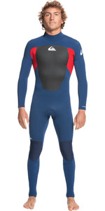 2021 Quiksilver Mens Prologue 4/3mm Back Zip GBS Wetsuit EQYW103133 - Insignia / High Risk