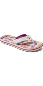 2021 Reef Kids Ahi Flip Flops CI4001 - Coral Pineapples