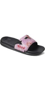 2021 Reef Womens One Slide Flip Flops CI4730 - Purple Blossom