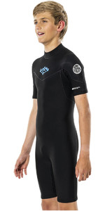 2021 Rip Curl Boys Dawn Patrol 2mm Back Zip Wetsuit WSP8EJ - Blue Grey