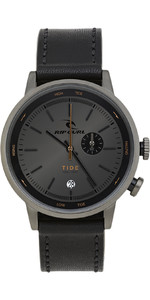 2021 Rip Curl Drake Tide Dial Leather Watch A1150 - Black