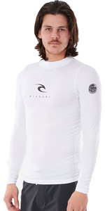 2021 Rip Curl Men Corps Long Sleeve UV Rash Vest WLE3QM - White