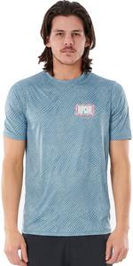 2021 Rip Curl Men Mind Wave Short Sleeve UV Tee WLY3SM - Mid Blue