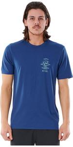 2021 Rip Curl Men Searchers Short Sleeve UV Tee WLY34M - Navy