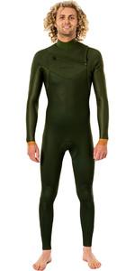 2021 Rip Curl Mens Dawn Patrol Performance Eco 3/2mm Chest Zip Wetsuit WSM9TV - Green