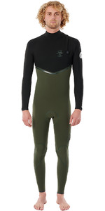 2021 Rip Curl Mens E-Bomb 3/2mm Zip Free Wetsuit WSMYVE - Olive