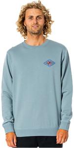 2021 Rip Curl Mens SWC Diamond Crew Long Sleeve T-shirt CFEFL9 - Mineral Green