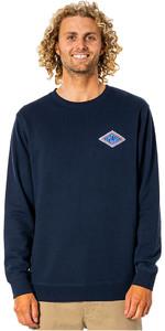 2021 Rip Curl Mens SWC Diamond Crew Long Sleeve T-shirt CFEFL9 - Navy