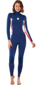 2021 Rip Curl Womens Dawn Patrol 3/2mm Chest Zip Wetsuit WSM9CS - Pink