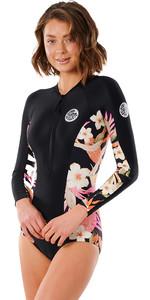 2021 Rip Curl Women G Bomb Long Sleeve Uv Surf Suit WLYYEW - Black