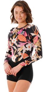 2021 Rip Curl Womens G Bomb 1mm Long Sleeve Boyleg Shorty Wetsuit WSPYCW - Pink