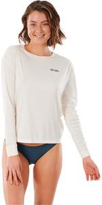 2021 Rip Curl Womens Golden State Long Sleeve Rash Vest WLY3CW - Bone