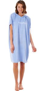 2021 Rip Curl Womens Surf Essential Hooded Towel / Poncho GTWAQ1 - Blue