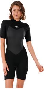 2021 Rip Curl Women Omega 1.5mm Shorty Wetsuit WSP9QW - Black