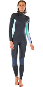 2021 Rip Curl Womens Dawn Patrol 4/3mm Chest Zip Wetsuit WSM9NW - Charcoal