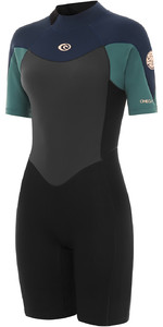 2021 Rip Curl Womens Omega 1.5mm Shorty Wetsuit WSP9QW - Green