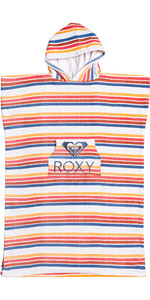 2021 Roxy Girls Stay Magical Printed Change Robe / Poncho ERGAA03121 - Bright White / Confi Stripe