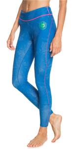 2021 Roxy Womens Pop Surf Capri 1mm Wetsuit Trousers ERJWH03021 - Princess Blue / Beetroot Purple