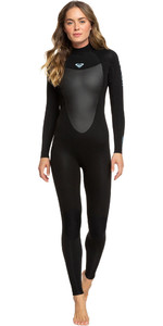 2021 Roxy Womens Prologue 3/2mm Back Zip Wetsuit ERJW103074 - Black