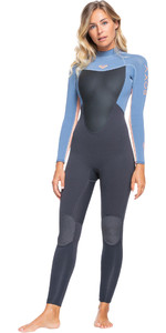 2021 Roxy Womens Prologue 3/2mm Back Zip Wetsuit ERJW103074 - Cloud Black / Powdered Grey / Sunglow