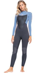 2021 Roxy Womens Prologue 5/4/3mm Back Zip GBS Wetsuit ERJW103073 - Cloud Black / Powdered Grey / Sunglow