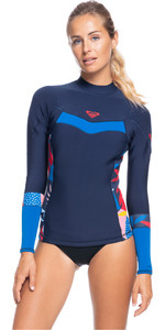 2021 Roxy Womens Syncro 1mm Wetsuit Jacket ERJW803025 - Navy Nights / Yacht Blue