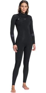 2021 Roxy Womens Syncro 4/3mm Chest Zip Wetsuit ERJW103055 - Black / Jet Black