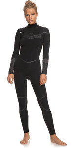 2021 Roxy Womens Syncro+ 4/3mm Chest Zip Wetsuit ERJW103059 - Black