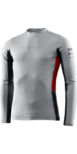2021 Sail Racing Mens Reference Long Sleeve Rash Vest 40601 - Light Grey