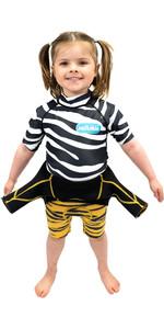 2021 Saltskin Junior Short Sleeve Rash Vest STSKNZBR04 - Zebra