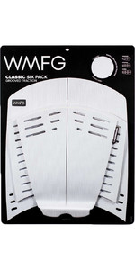 2021 WMFG Classic Six Pack Grooved Traction 3.0 Kiteboard Deckpad WMTR3CL6 - White