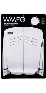 2021 WMFG Stubby Six Pack Grooved Traction 2.0 Kiteboard DeckPad WMTR3ST6 - White