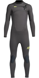 2021 Xcel Junior Comp 4/3mm Chest Zip Wetsuit KN43ZX - Graphite